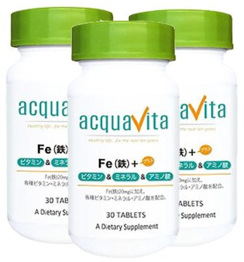 等しい可塑性前者アクアヴィータ Fe(鉄)+ビタミン?ミネラル?アミノ酸(アクアビータ?Acquavita)【3本セット】