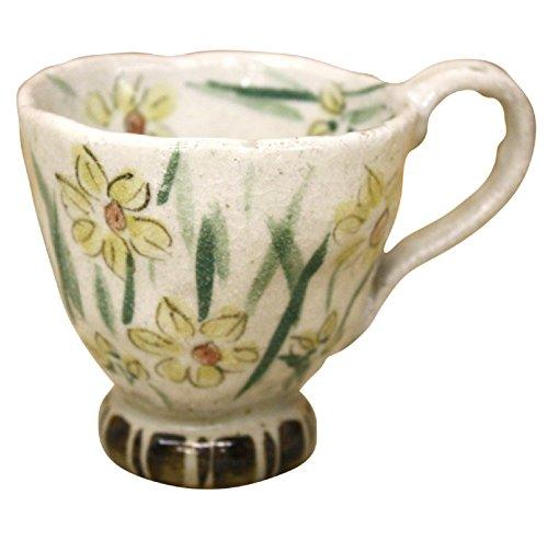 カップ ソーサー ケーキ皿 可愛い 瀬戸 亜福窯 花の詩 マグ コーヒーカップ 水仙 花柄