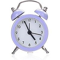 House-by ミニかわいい顔のデジタル目覚まし時計ソリッドカラー目覚まし時計 5色 (紫)