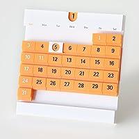 永久カレンダー デートブロック・ライト DBL-4・オレンジ
