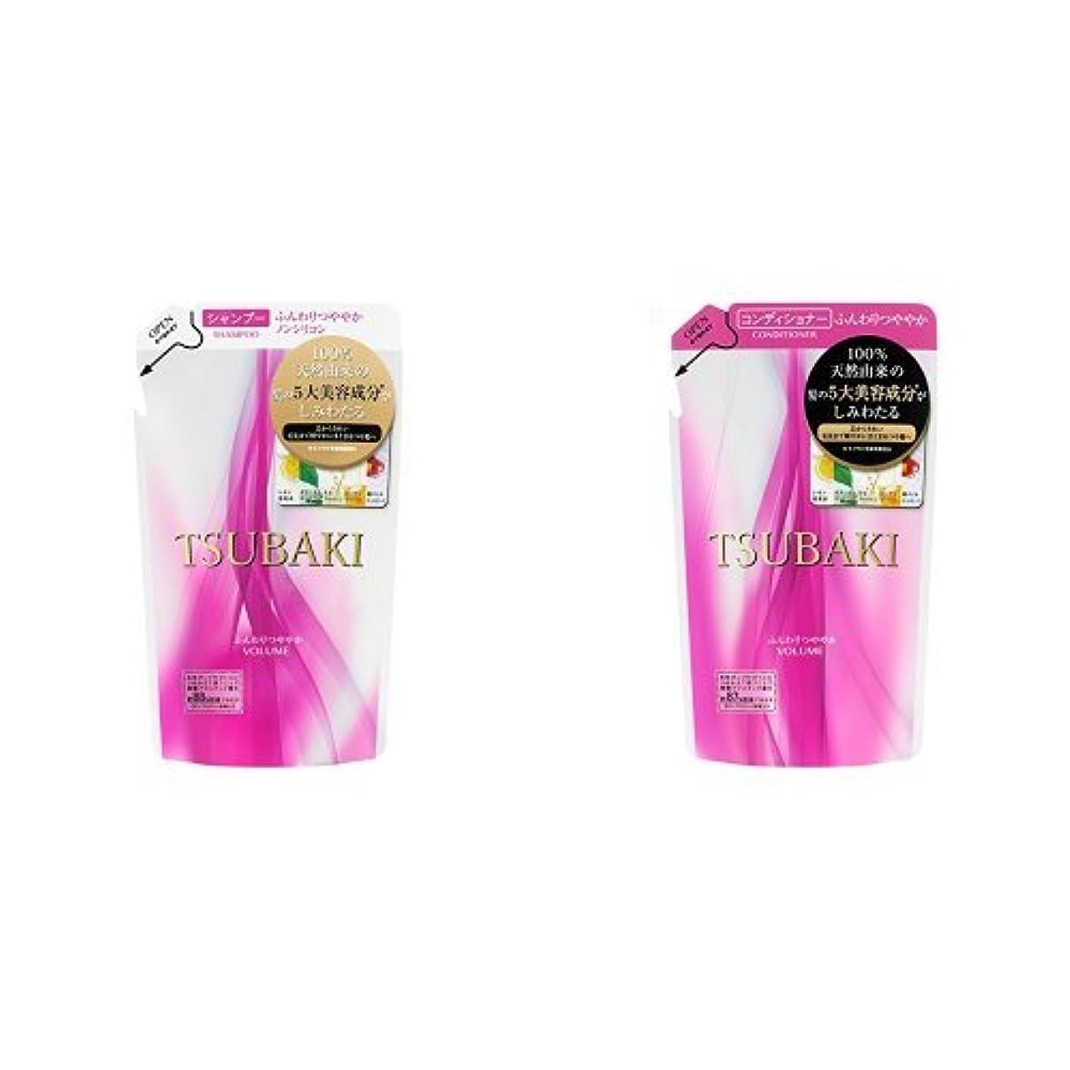 専門化するコンドーム香ばしい【セット買い】 TSUBAKI ふんわりつややか シャンプーつめかえ用 & コンディショナーつめかえ用 330mL