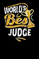 World's Best Judge: Small notebook for judges with 100 pages of lined paper