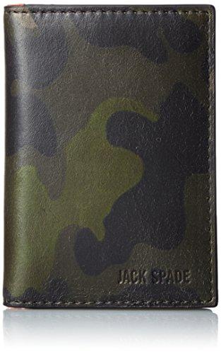[ジャック・スペード] 折り財布 CAMO LEATHER VERTICAL FLAP WALLET 二つ折り財布 W6RU0308 972 CAMO