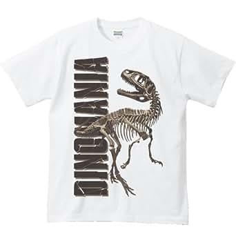 エムワイディエス(MYDS) 恐竜の化石>ダイノマニア1(恐竜の骨)/半袖Tシャツ/白/XLサイズ
