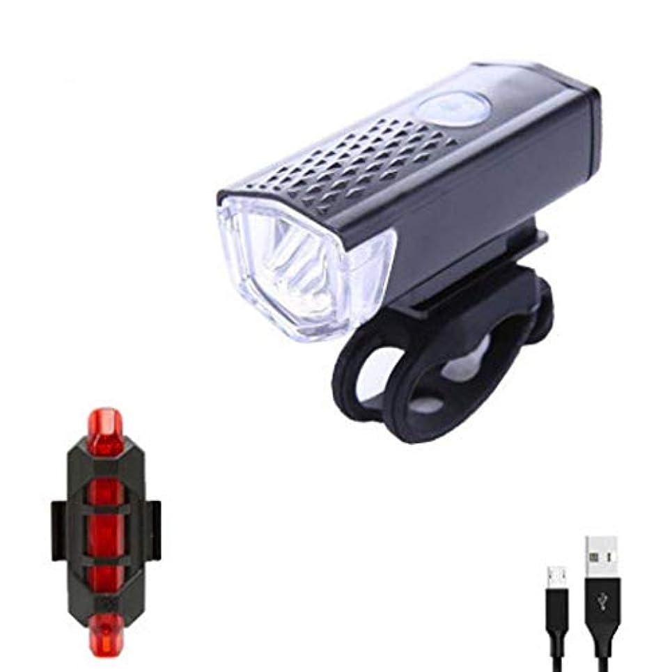 なぜ種をまくにぎやか自転車ライトセットUSB充電式、高輝度 で簡単取り 自転車ライト、山道との互換性がある子供用および市内用自転車、自転車用ヘッドライト リアフリーテールライト