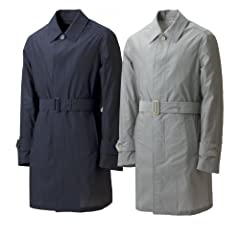 Valstar Cotton Silk Coat: Navy, Grey