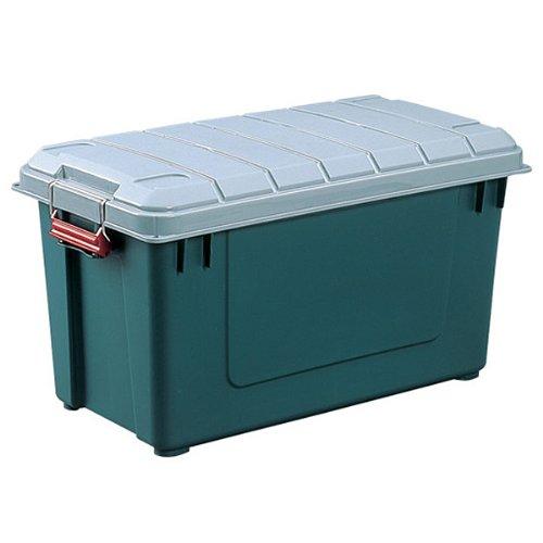アイリスオーヤマ ボックス RVBOX 密閉 700 グレー/ダークグリーン 幅70.2×奥行37×高さ38.9cm