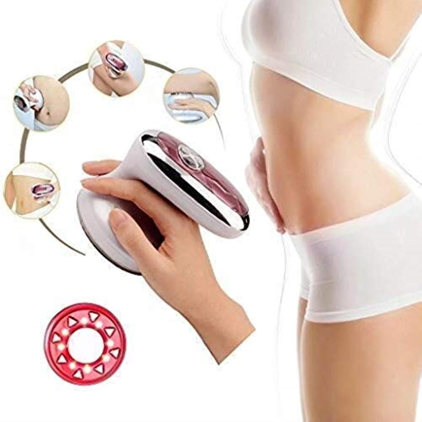 気配りのある暖かく和解する美容マッサージ器、RF超音波ボディスリミングマッサージ器、ポータブル脂肪バーナー、振動美容インストゥルメント、腰とスリミングファーミングスキン/シェーピング美容インストゥルメント