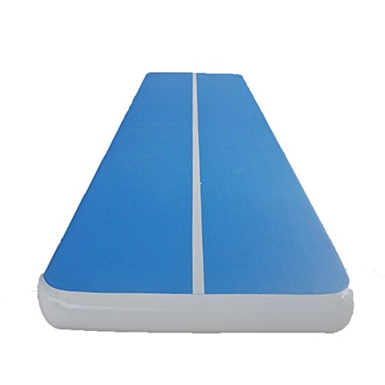Sorliva 体操マット インフレータブルジムマット エアマット 400x100x20cm インフレータ ブル運動用マット エアタンブリング トラックチアリーディング パッドスポーツ 保護用品