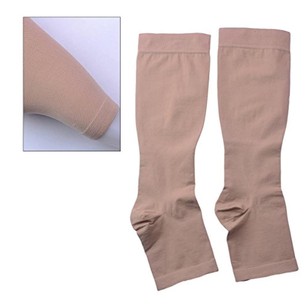テレックス先入観細部ROSENICE レッグスリーブ女性用ウォーマープロテクションレッグストッキングスリーブS(肌色)