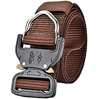 Men Tactical Belt Army Belts with Quick-Release Buckle for Hunting Training Army Running Zhhlinyuan
