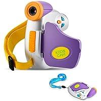 OSEI 子供用デジタルカメラ キッズカメラ かわいい おもちゃ DV型 写真撮影 耐衝撃性 押しボタン音付き 日本語対応(紫)