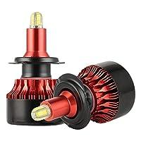 chaufly H7 LEDヘッドライト 100W 12000LM 6500K 9-30V 360°発光 コンパクト設計 防水 1ペア