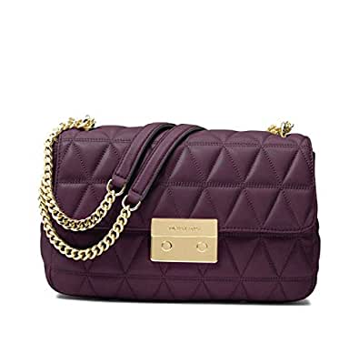 4a77be3f1f959 画像はありません. 選択したカラーの画像がありません。 カラー:. MICHAEL Michael Kors Sloan Large Quilted-Leather  Shoulder Bag in Damson 30S7GSLL3L-599
