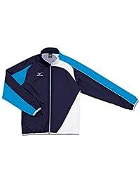 ミズノ トレーニングクロスシャツ N2JC501026 ブルー×レッド