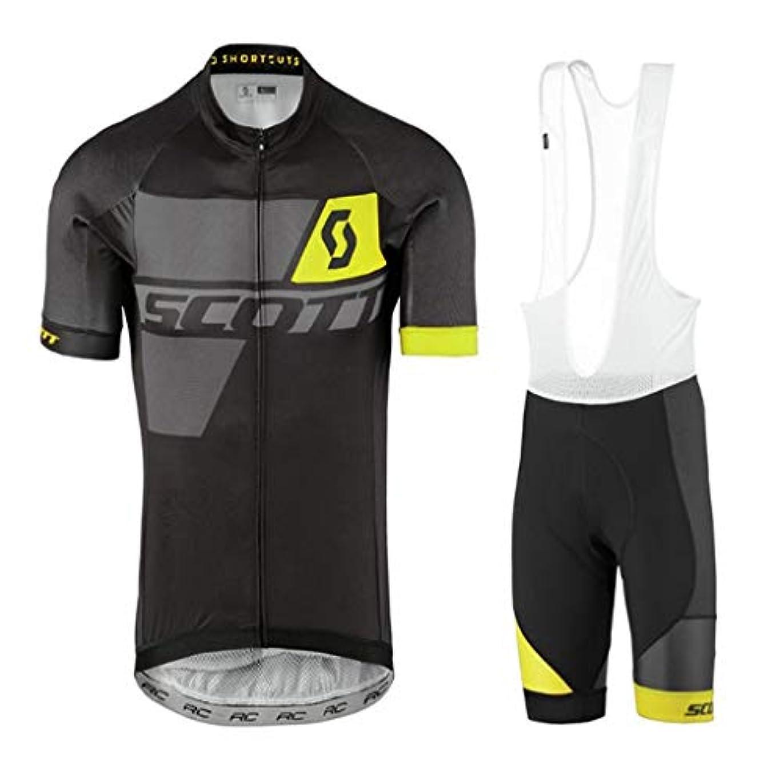 遊びます追う製造男性用サイクリングジャージ半袖サイクリングセット夏用通気性半袖ショーツライディングセット (Color : 2, Size : XL)