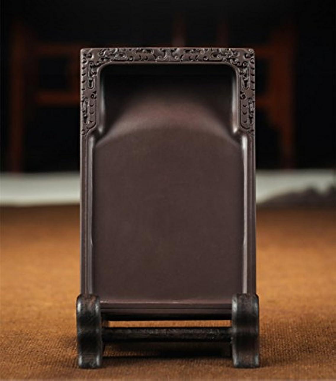 使い込む間に合わせ入浴硯 6吋 硯石 実用硯 木箱 書道用品 墨池 角硯