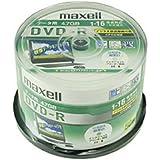maxell データ用DVD-R 4.7GB 16倍速 CPRM対応 インクジェットプリンター対応 (50枚スピンドル…