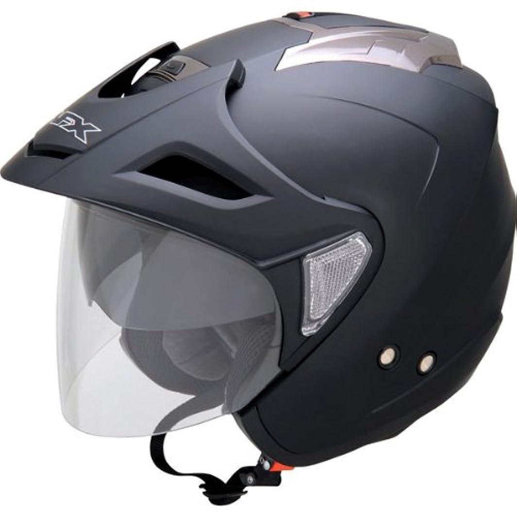 恐れるコンドーム罹患率AFX エーエフエックス FX-50 Helmet ジェットヘルメット マットブラック L(59~60cm)