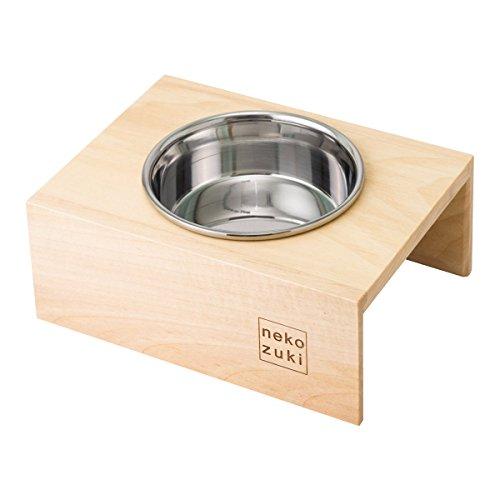 nekozuki まんま台 hole シングル ステンレス 猫 食器台