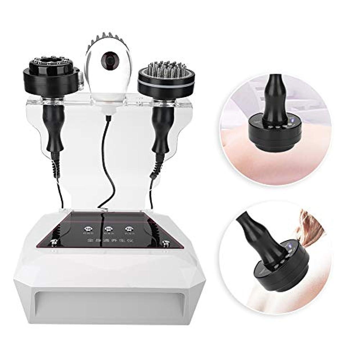 冷笑するファイバメイト負圧マッサージャー、多機能マイクロ電流スクレーピングマッサージ機ボディ解毒機器(USプラグ(110v))