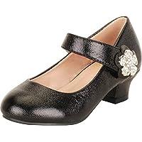 Cambridge Select Girls' Mary Jane Crystal Rhinestone Flower Low Heel Pump (Toddler/Little Kid/Big Kid)