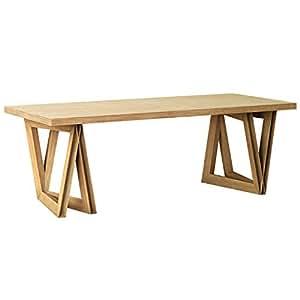 KAMARQ ダイニングテーブル SOUND TABLE -音を奏でるテーブル Modern Delta ナチュラルブラウン L