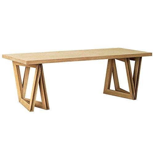 KAMARQ / SOUND TABLE -音を奏でるテーブル / Modern Delta(ダイニングテーブル) / Natural Brown / XL