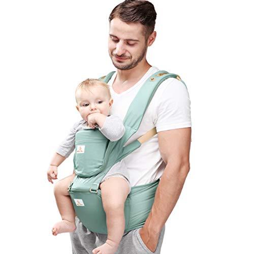 Peacoco 多機能抱っこ紐 ベビーキャリア 新生児から3歳まで よだれカバー付き (green)