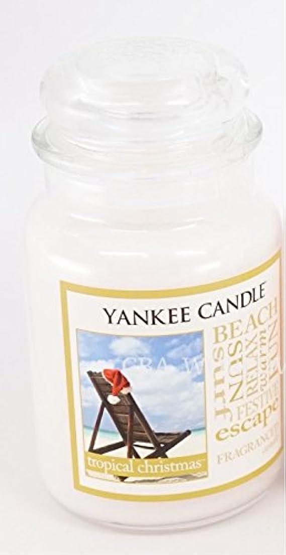 めったに薄汚い幻影Yankee Candle Large Tropical Christmas Jar Candle (Christmas at the beach)