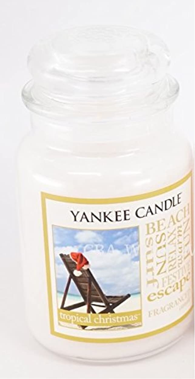 目指すしっとりネブYankee Candle Large Tropical Christmas Jar Candle (Christmas at the beach)