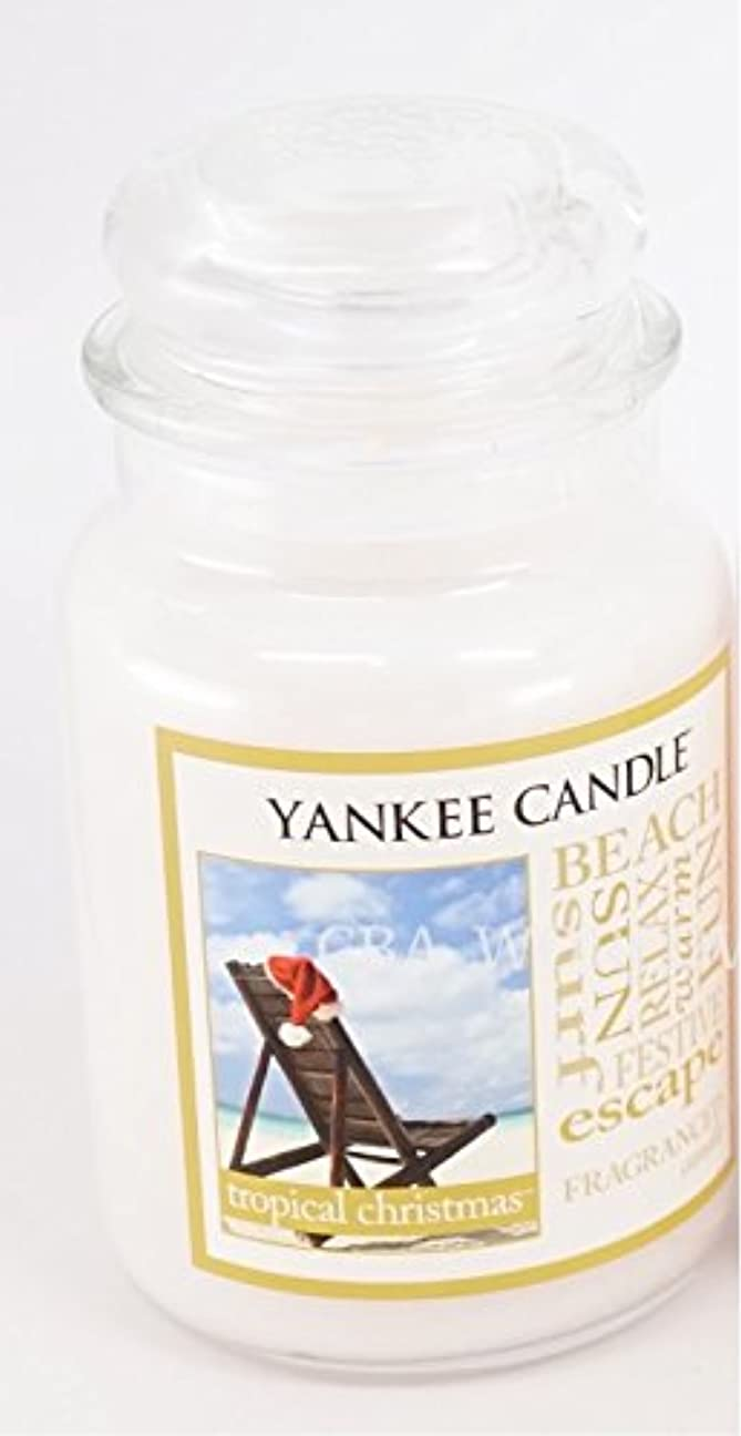 ポンプ悪党解決するYankee Candle Large Tropical Christmas Jar Candle (Christmas at the beach)