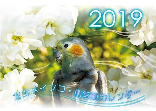 オカメインコ鳥写真カレンダー2019 (A5サイズ。ワンタッチで卓上