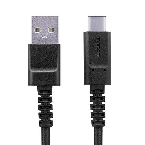 エレコム USB Type C ケーブル [ タイプC ] USB-C & USB-A 高耐久 準拠品 1.2m ブラックMPA-FACS12BK