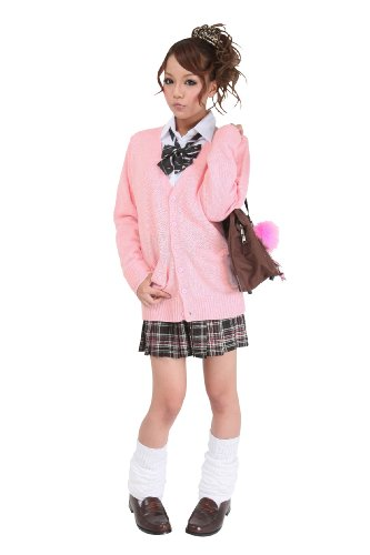 『Teens Ever(ティーンズエバー) カーディガン コスチューム ピンク レディース Mサイズ』の1枚目の画像