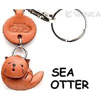 本革製 キーホルダー 魚 ラッコ VANCA CRAFT (日本製 職人の手作り)