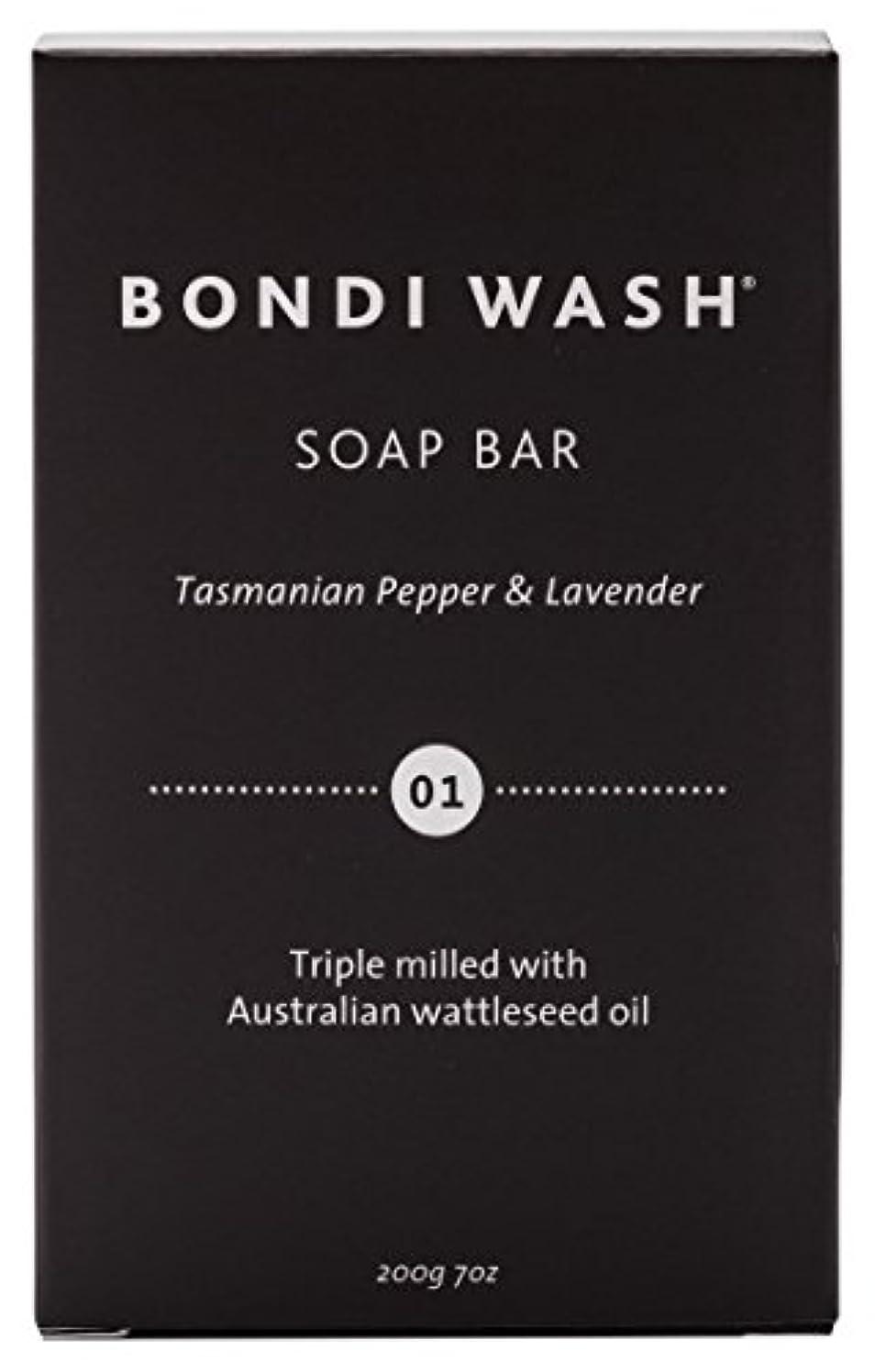 上流の鹿凶暴なBONDI WASH ソープバー(固形石鹸) タスマニアンペッパー&ラベンダー 200g