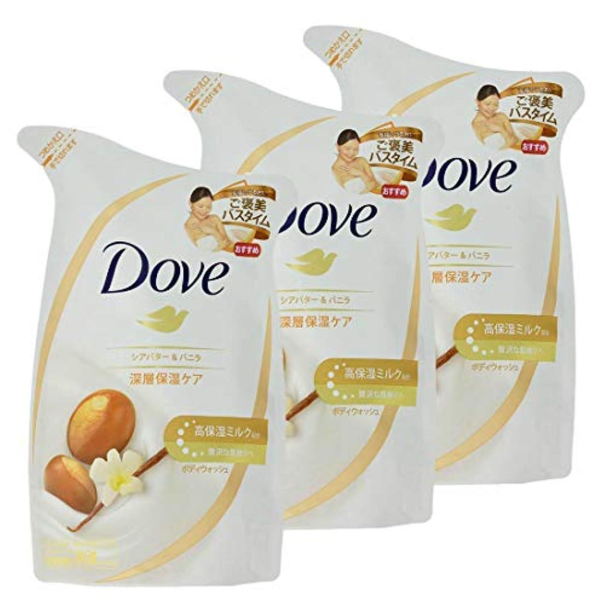 天使化粧提供するダヴ ボディウォッシュ リッチケア シアバター&バニラ つめかえ用 340G × 3個セット
