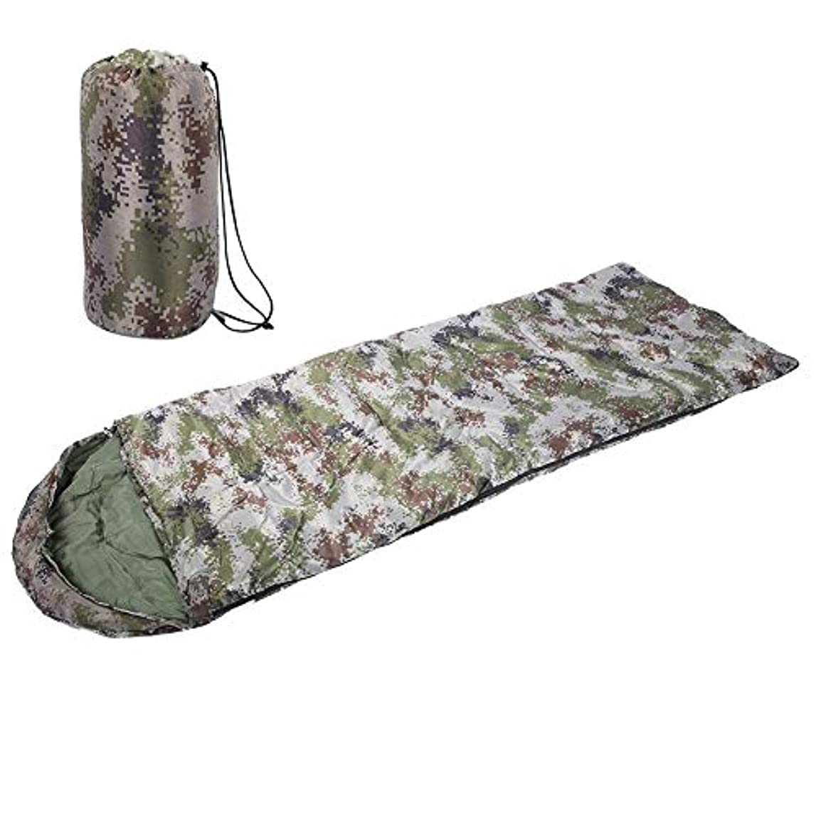 家主作業備品寝袋 ポータブル軽量封筒寝袋収納袋迷彩キャンプ用品装備4シーズン旅行登山クライミングキャンプピクニックハイキング屋内&屋外アクティビティ