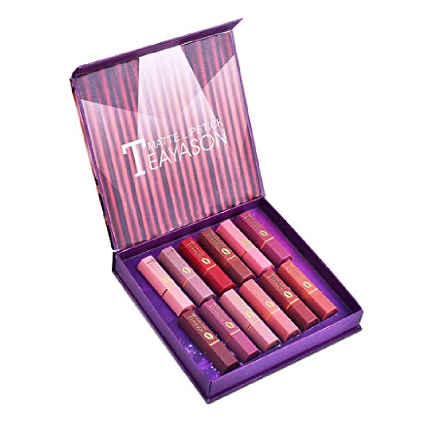 Perfeclan ミニマット 口紅セット 長持ち色 化粧品 メイク リップグロス スティック キット 12色セット