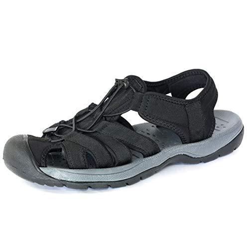 [LAD WEATHER] [ラドウェザー]スポーツ サンダル 軽量 滑り止め 耐衝撃 メンズ シューズ 靴 ladshoes002 (26.5, ブラック)