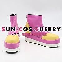 【サイズ選択可】コスプレ靴 ブーツ J-0252 キズナイーバー 新山仁子 にいやまにこ 女性22CM