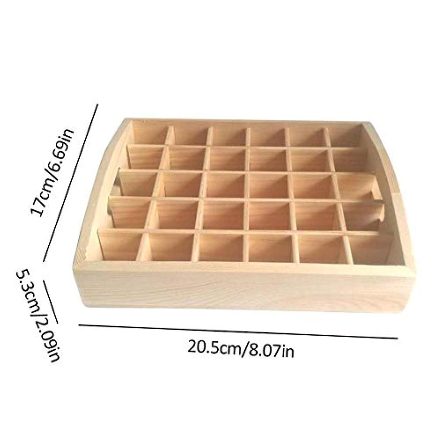 伸ばすマーキーリングレットアロマオイルスタンド エッセンシャルオイル収納 精油 ディスプレイスタンド 木製 精油収納 見つけ易い 30本用