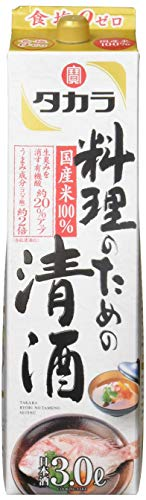 タカラ 料理のための清酒 3000ml パック [ 日本酒 ]