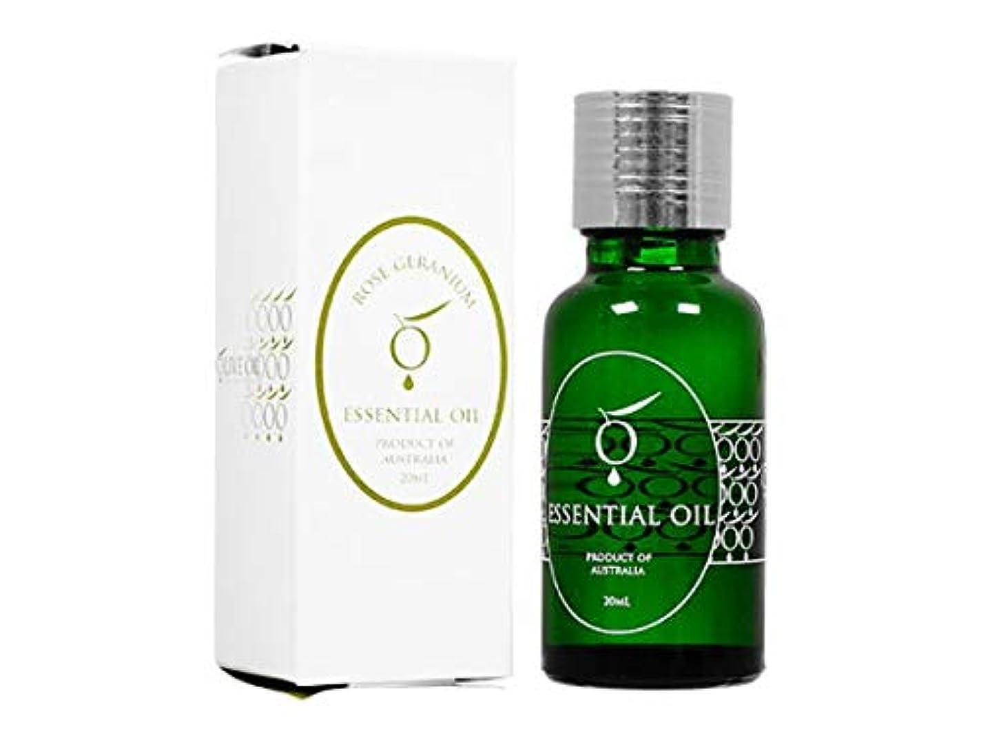 良性クレーン報復OliveOil エッセンシャルオイル・ローズゼラニウム20ml (OliveOil) Essential Oil (Rose Geranium) Made in Australia