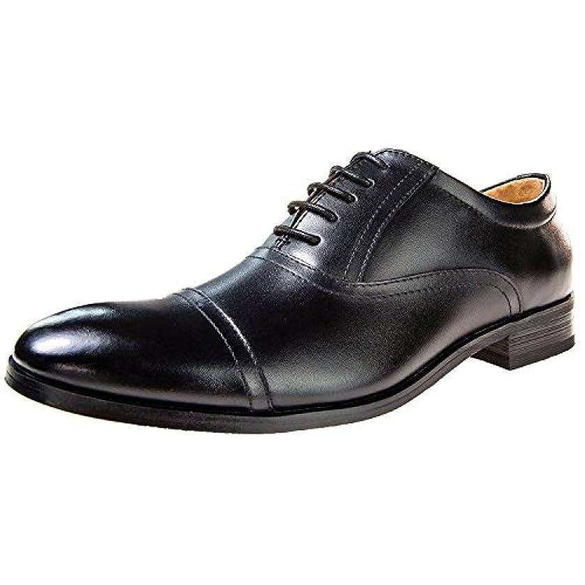 予見するカーフレンジ[ロムリゲン] Romlegen ビジネスシューズ 革靴 メンズ 本革 レースアップ 内羽根 ストレートチップ 紳士靴