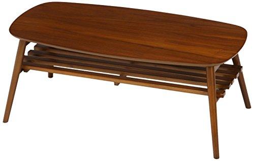 センターテーブル 折りたたみテーブル 木製ウォルナット