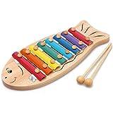 LINGLING-ピアノをノックする 8トーン木製手ノックピアノ子供のおもちゃ楽器教育玩具3歳 (サイズ さいず : S s)