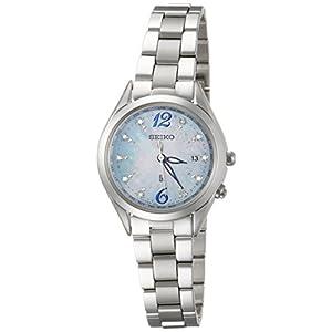 [ルキア]LUKIA 腕時計 LUKIA ソーラー電波 プレミアムサマー限定 限定2,000本 ダイヤモンド白蝶貝青文字盤 チタンモデル サファイアガラス SSQV043 レディース