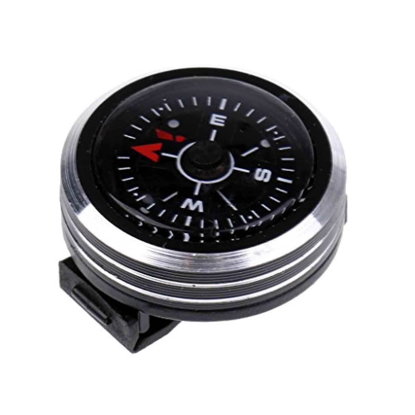 ベッドを作る疼痛ブローホールLovoski 屋外 サバイバルキット キャンプ 腕時計の形 コンパス 方位磁石